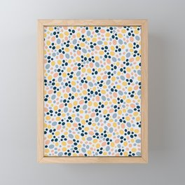 Preppy Dots Framed Mini Art Print