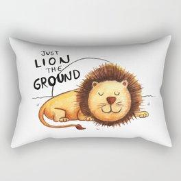 Just Lion the ground Rectangular Pillow
