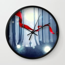 Forest Ribbon Wall Clock