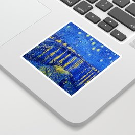 Van Gogh Starry Night Over the Rhone Sticker