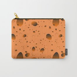 Large mustard drops and petals on a light background in nacre. Carry-All Pouch
