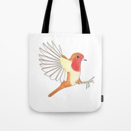 Robin In Flight Tote Bag