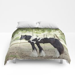 Majestic Horse in Color Comforters