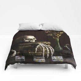 Vanitas, Memento Mori, Macabre Halloween Photo Comforters