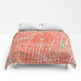 Mexico city map classic Comforters
