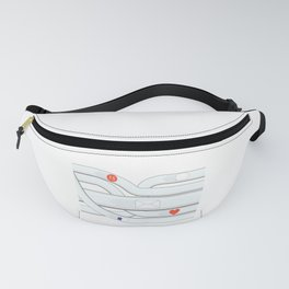 Social Media Tube Fanny Pack