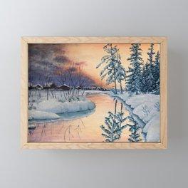 Russian Winter Framed Mini Art Print