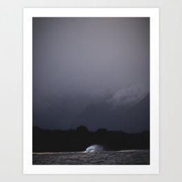 Moody wave Art Print