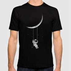 Moon Swing LARGE Black Mens Fitted Tee