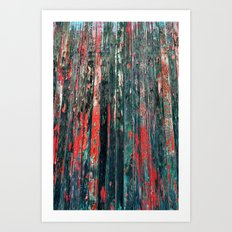 Red Splinters Art Print