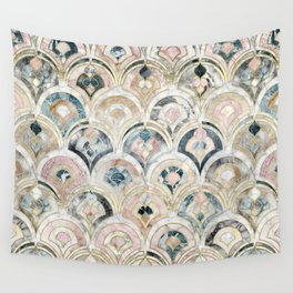 Art Deco Marble Tiles in Soft Pastels Wall Tapestry