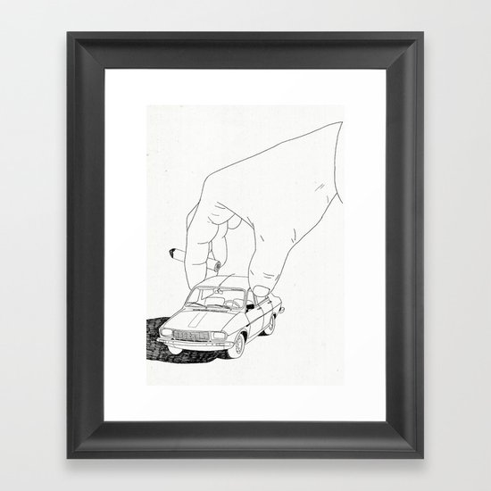Driving home Framed Art Print