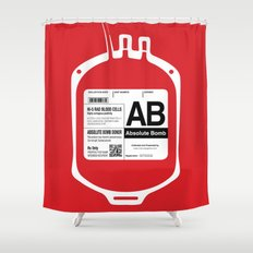 My Blood Type is AB, for Absolute Bomb! Shower Curtain
