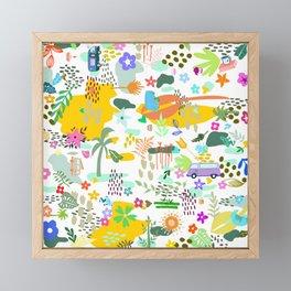 Van Pattern Framed Mini Art Print