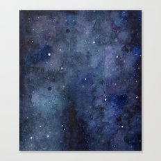 Night Sky Stars Galaxy | Watercolor Nebula Canvas Print