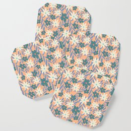 Just Peachy Floral Coaster
