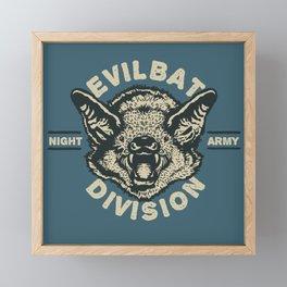Evil Bat Division Framed Mini Art Print