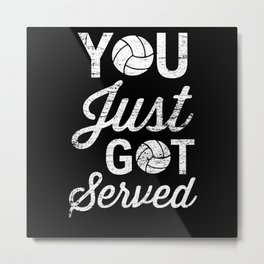 Volleyball Surcharge Metal Print
