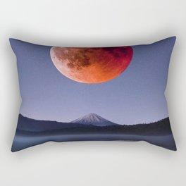 Blood Moon over Mt Rainier Washington State Rectangular Pillow