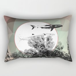 Underwater Abstract Fishes Design Rectangular Pillow