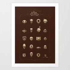 The Exquisite Pop Culture Skulls Museum Art Print