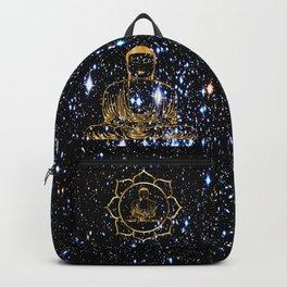 Gold funky Space Buddha Backpack