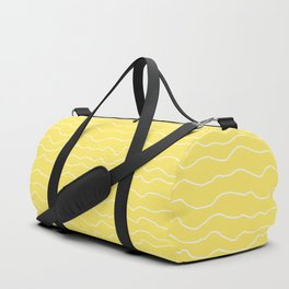 Yellow with White Squiggly Lines Duffle Bag