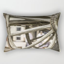 Calgary Stampede Chuck Wagon Wheel with Cobwebs Rectangular Pillow