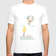 baloon collage Mens Fitted Tee White MEDIUM