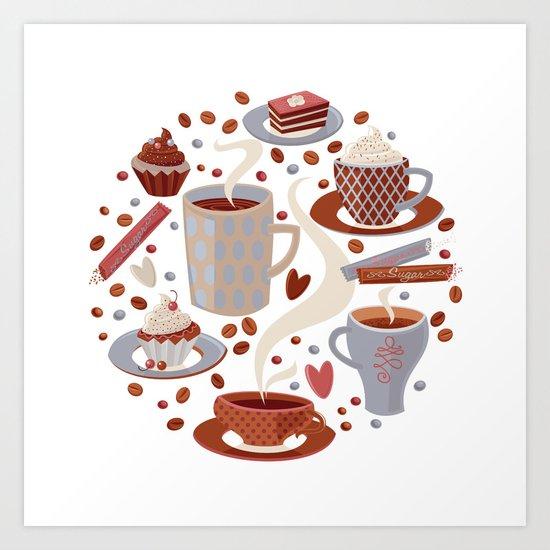 Coffee Time.. Art Print