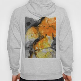 Orange Abstract Art - Light Walk - By Sharon Cummings Hoody