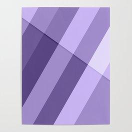 Ultra violet purple modern geometric lines Poster
