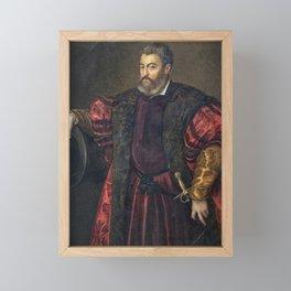 Portrait of Alfonso d'Este, Duke of Ferrara, by Titan Framed Mini Art Print