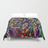 wild things Duvet Covers featuring Wild Things by RingWaveArt