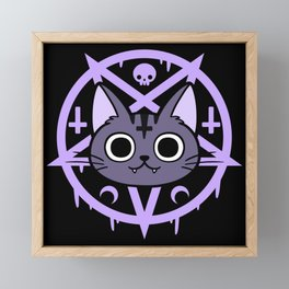 Black Meowgic 03 Framed Mini Art Print