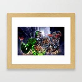 Green Ape Evolution Framed Art Print