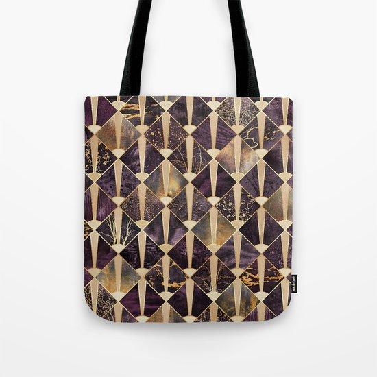 Art Deco Tiles - Plum Tote Bag