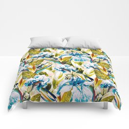 Floral Exotic Pattern II Comforters