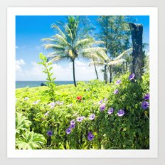 Ipomoea Keanae Morning Glory Maui Hawaii Art Print