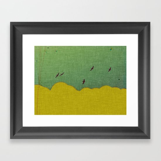 migratory thoughts Framed Art Print