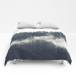 Abstract Forest Fog Comforters
