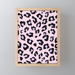 Leopard Print - Lavender Blush Framed Mini Art Print