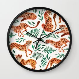 Cheetah Collection – Orange & Green Palette Wall Clock