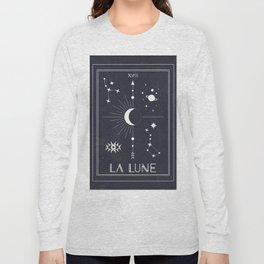 The Moon or La Lune Tarot Long Sleeve T-shirt
