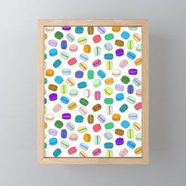 Macaron Pattern Framed Mini Art Print