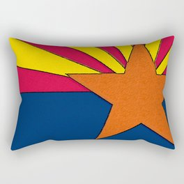 Arizona Map with Arizonan Flag Rectangular Pillow