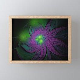 Purple Magic Flower Framed Mini Art Print