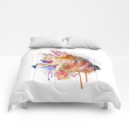 Watercolor Chihuahua Comforters