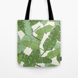 Banana Leaf Print Tote Bag
