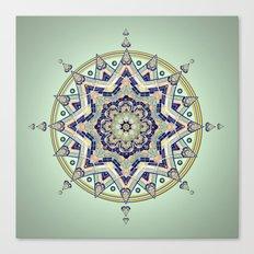 Heart Moon Star Mandala Canvas Print